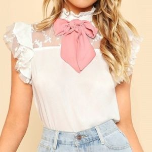 SHEIN | Ruffled White Lace Lolita Blouse